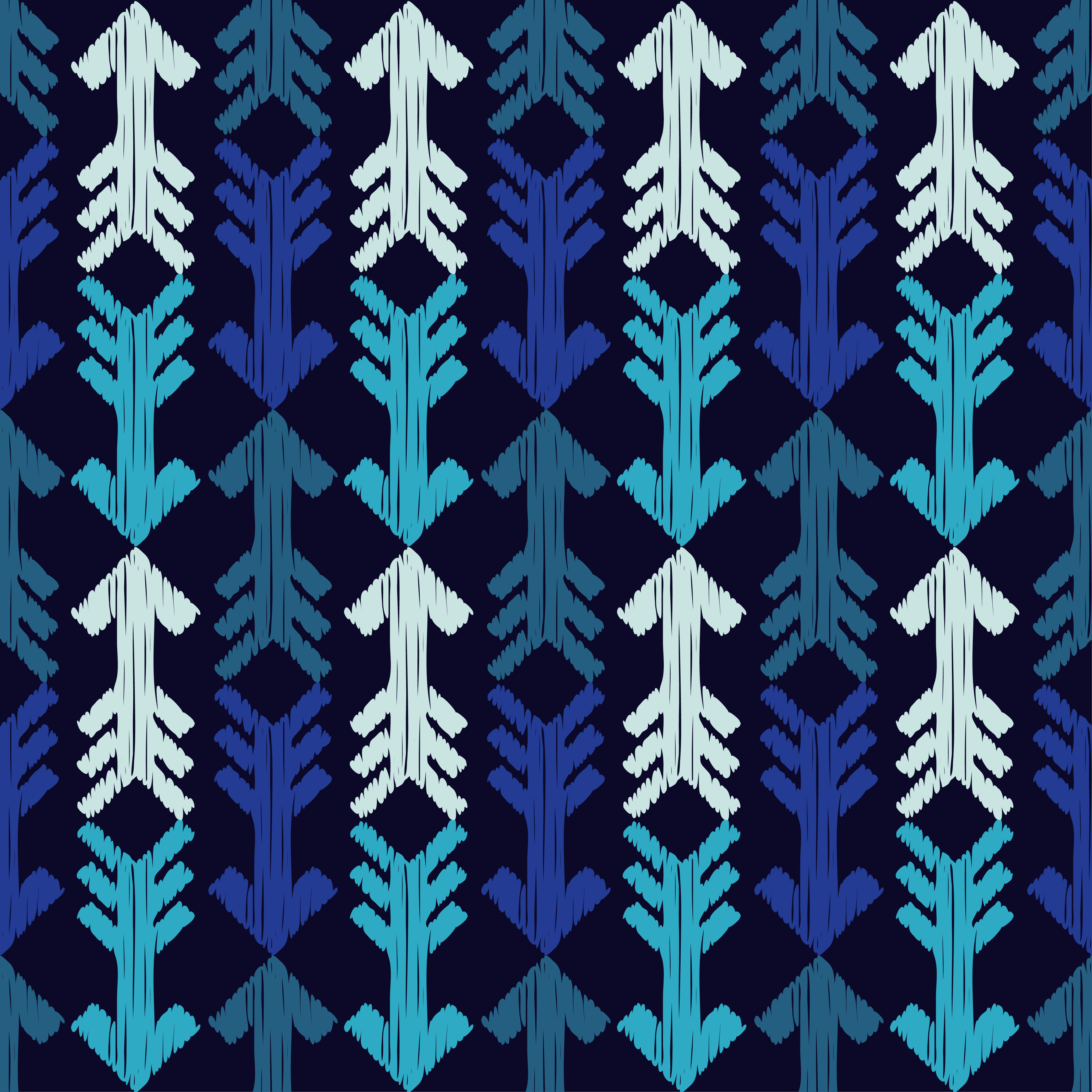 6 Ethnic boho seamless pattern. Arrows scribble texture.  example image 4