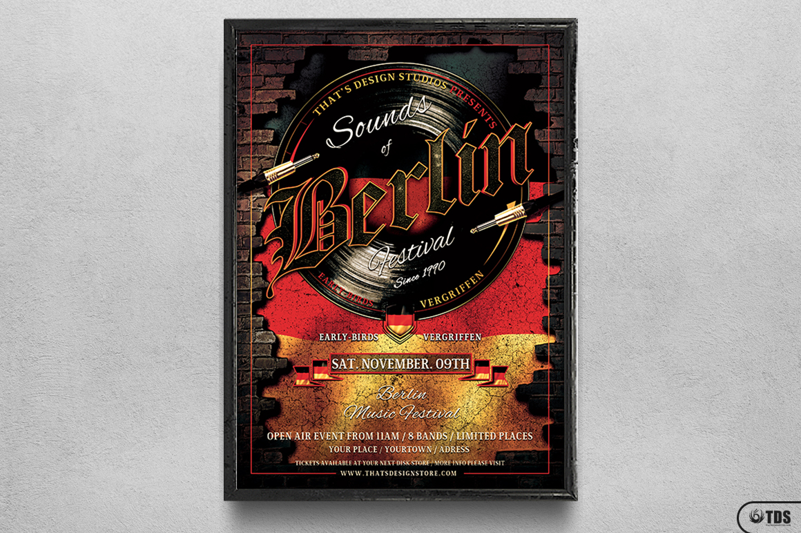 Sounds of Berlin Flyer Template example image 6