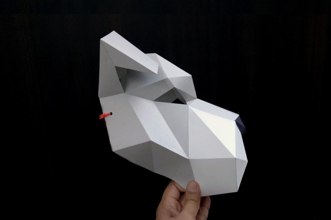 DIY Schnauzer Mask - 3d papercraft example image 3