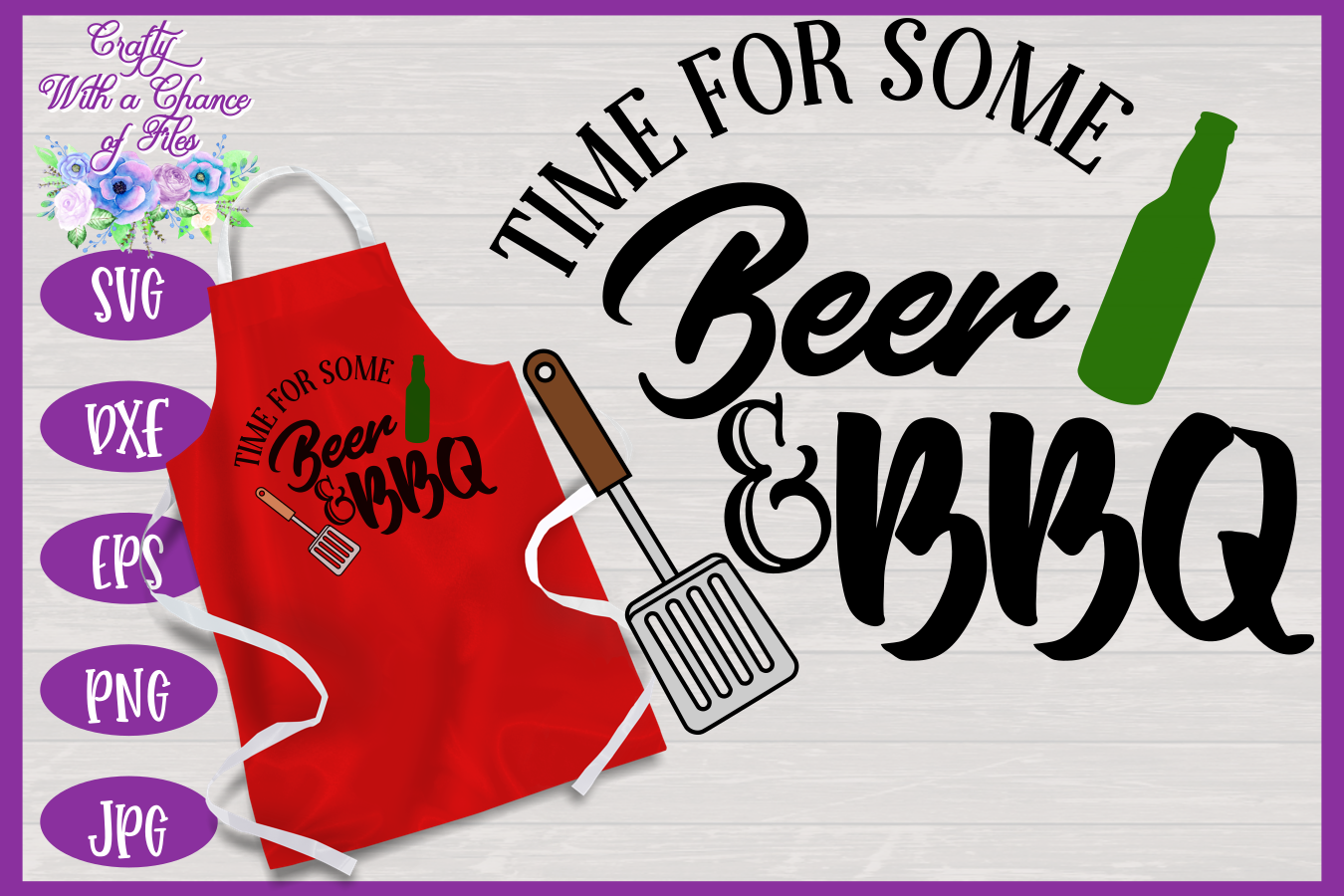 BBQ Grill Apron Bundle | Funny SVG Bundle example image 5