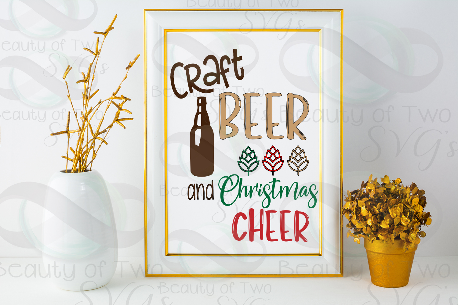 Christmas svg, Craft beer and Christmas cheer svg, beer svg example image 2