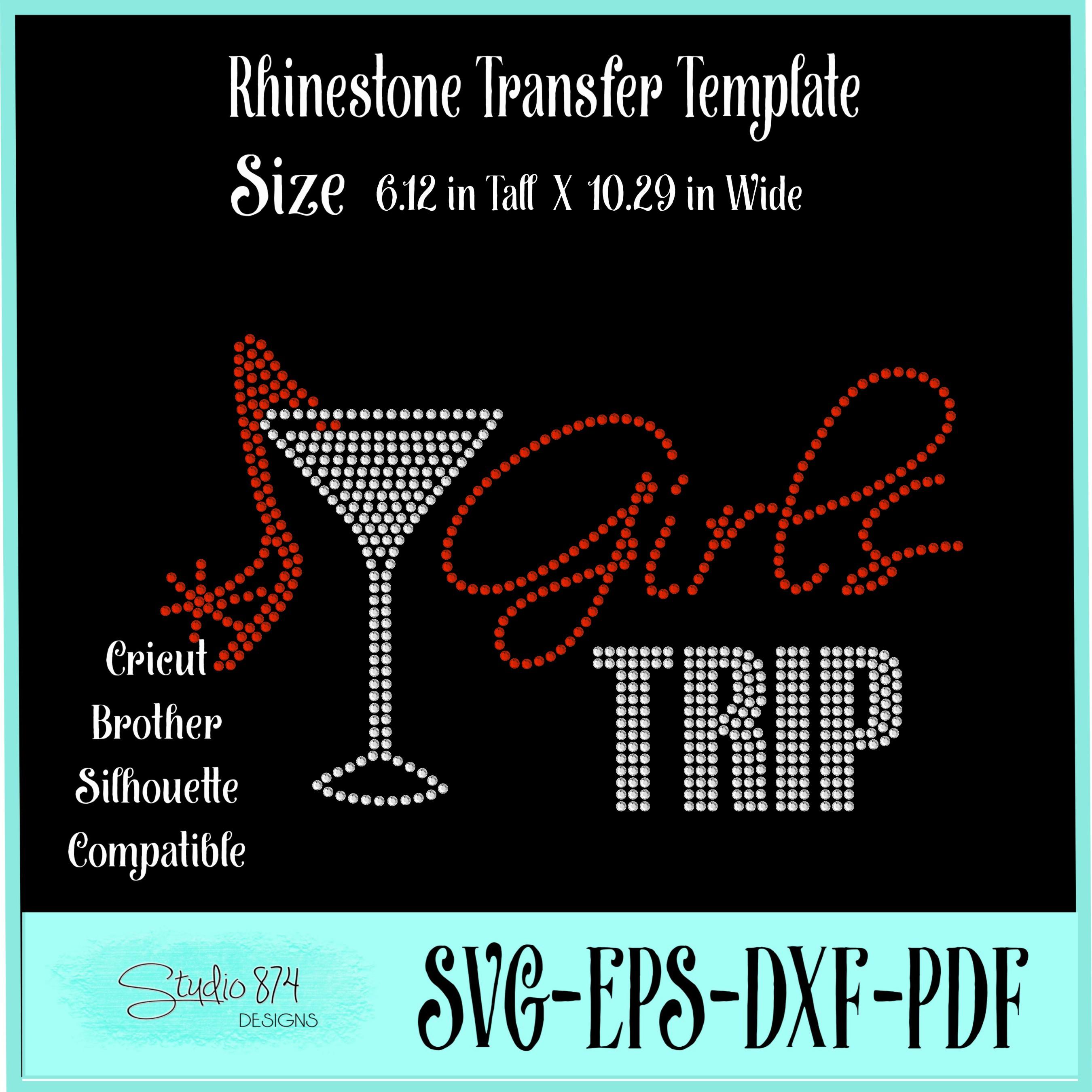 Girls Trip Rhinestone SVG Transfer Template R5 example image 2