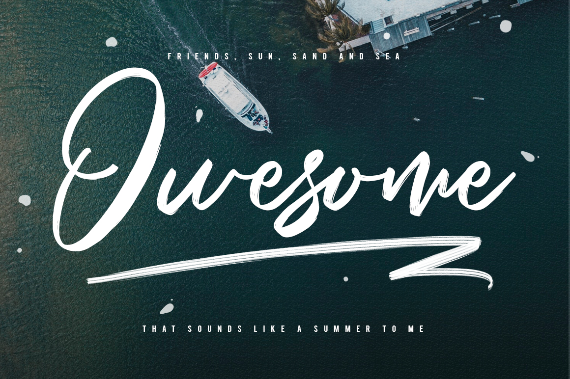 Saintrop Brush Font Collection example image 4