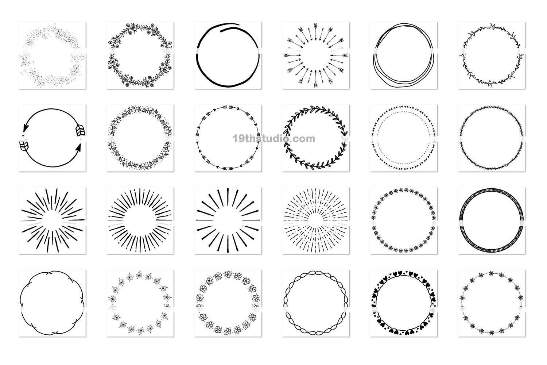 100 Wreaths and Circles SVG Bundle -VB example image 5
