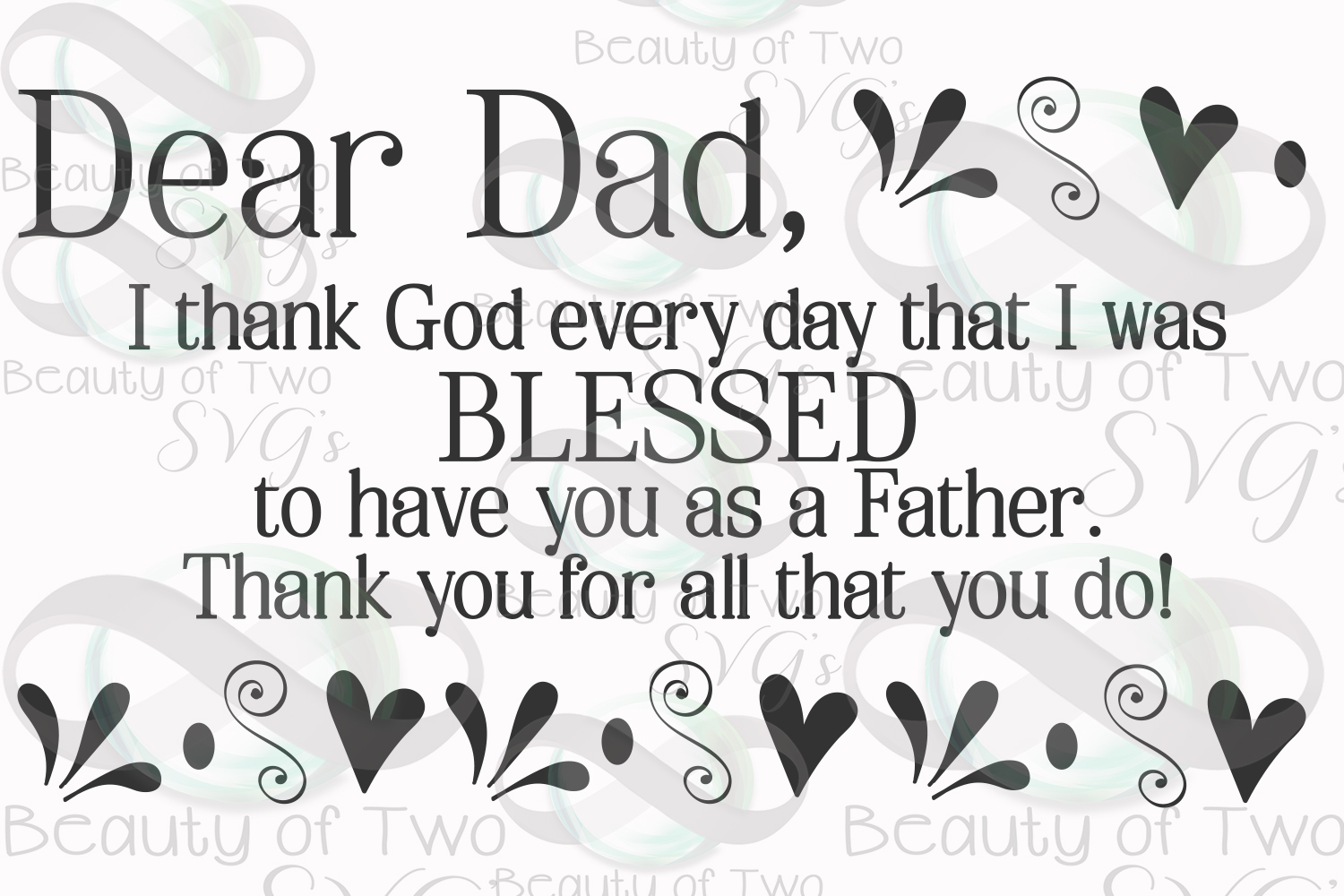 Fathers Day svg & png, Dear Dad svg, Christian Dad svg, example image 3