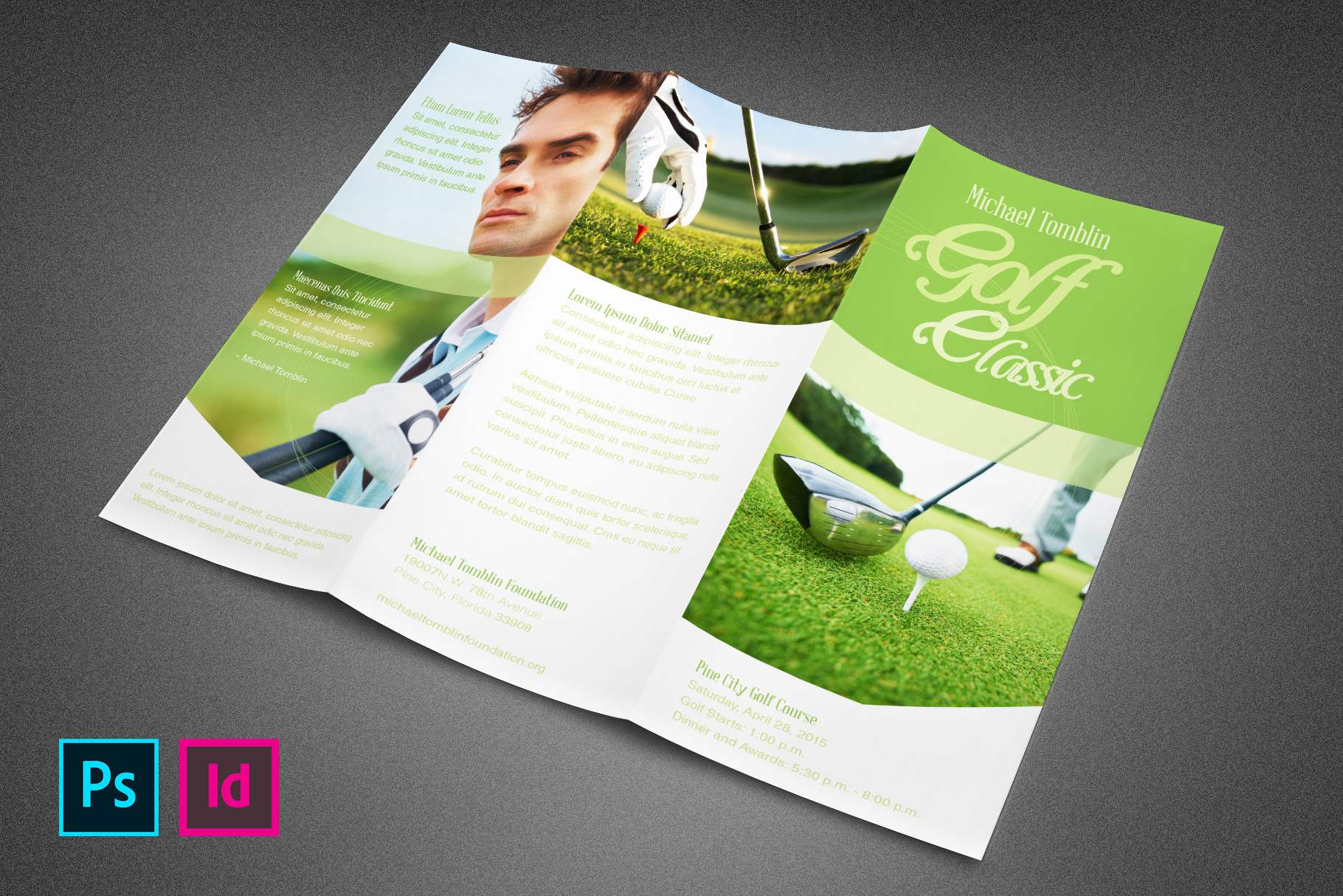 Golf Classic Event Tri-fold Brochure example image 2