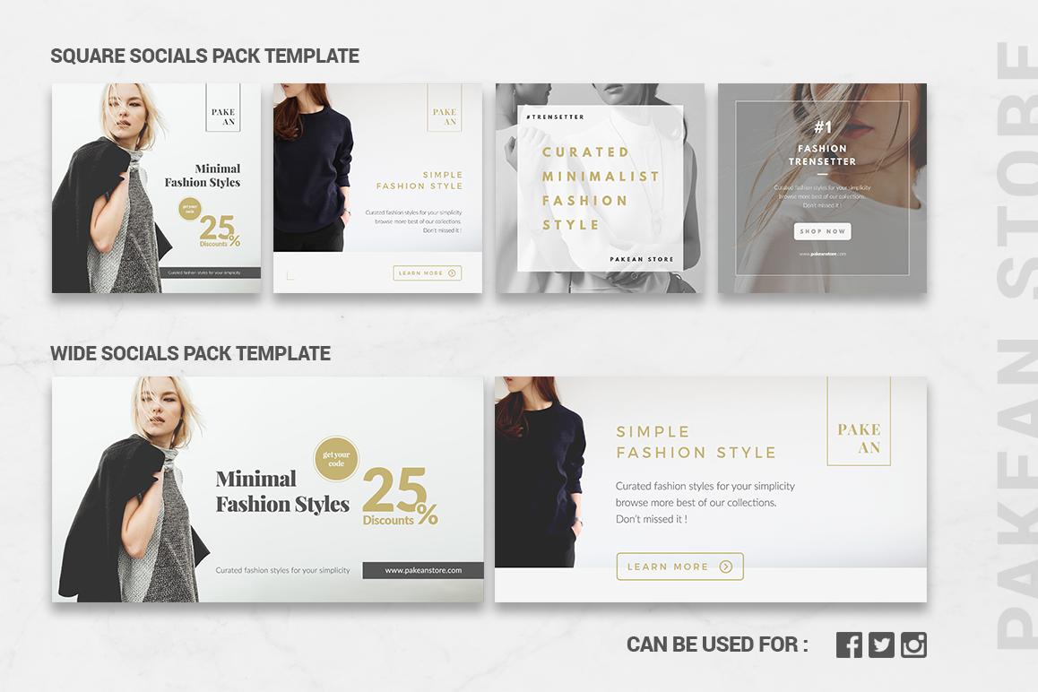 Minimalist Social Packs example image 5