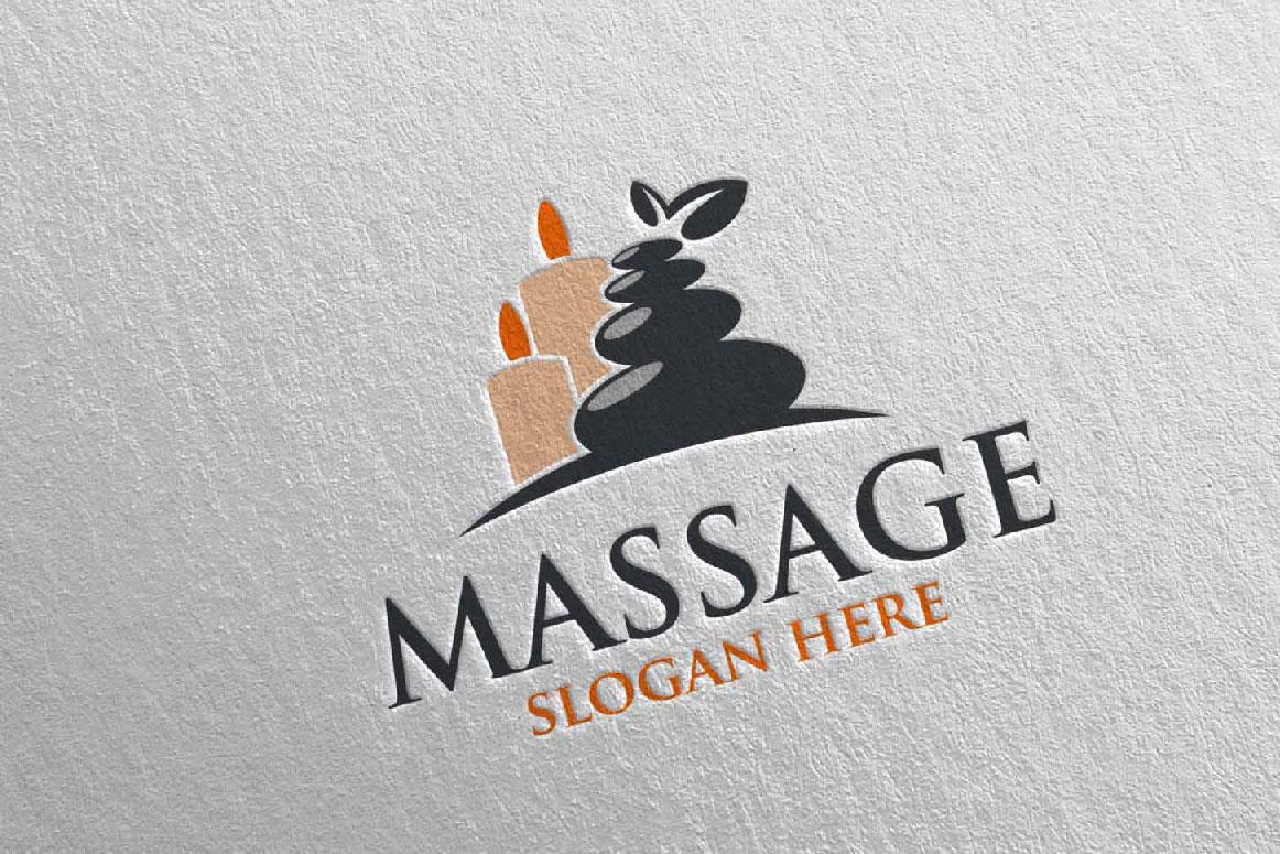 Massage Logo Design 7 example image 1
