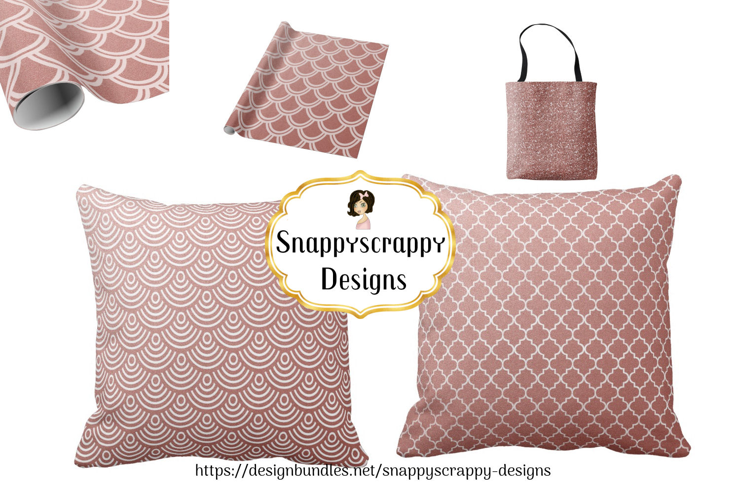 Rose Gold Background Papers example image 2