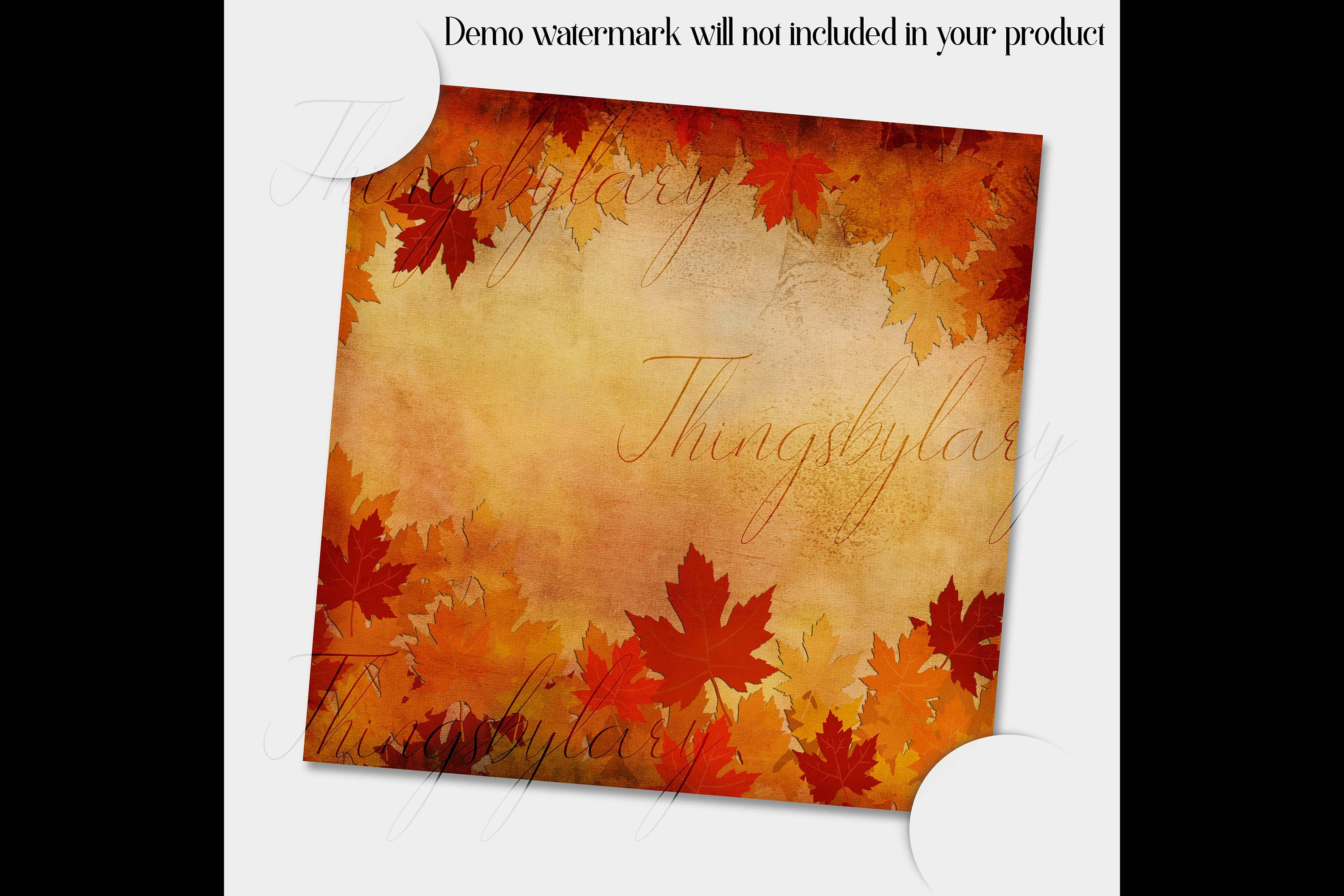 18 Autumn Leaves Digital Papers, thanksgiving fall wedding example image 5