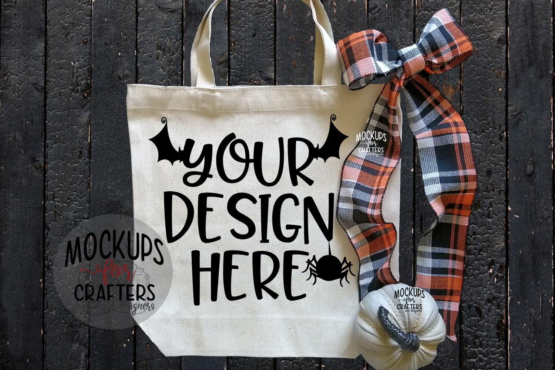 Halloween Treat Bag, Tote Bag, Mock-Up example image 1