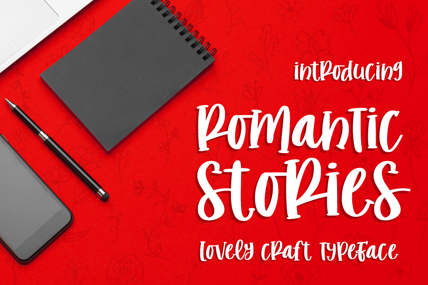 romantic stories - handcraft font - example image 1