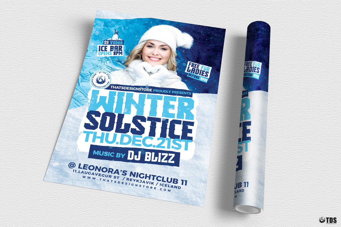 Winter Solstice Flyer Template V4 example image 3