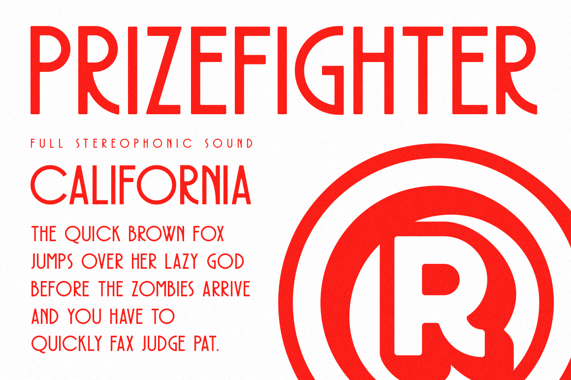 Prizefighter Display Font example image 8