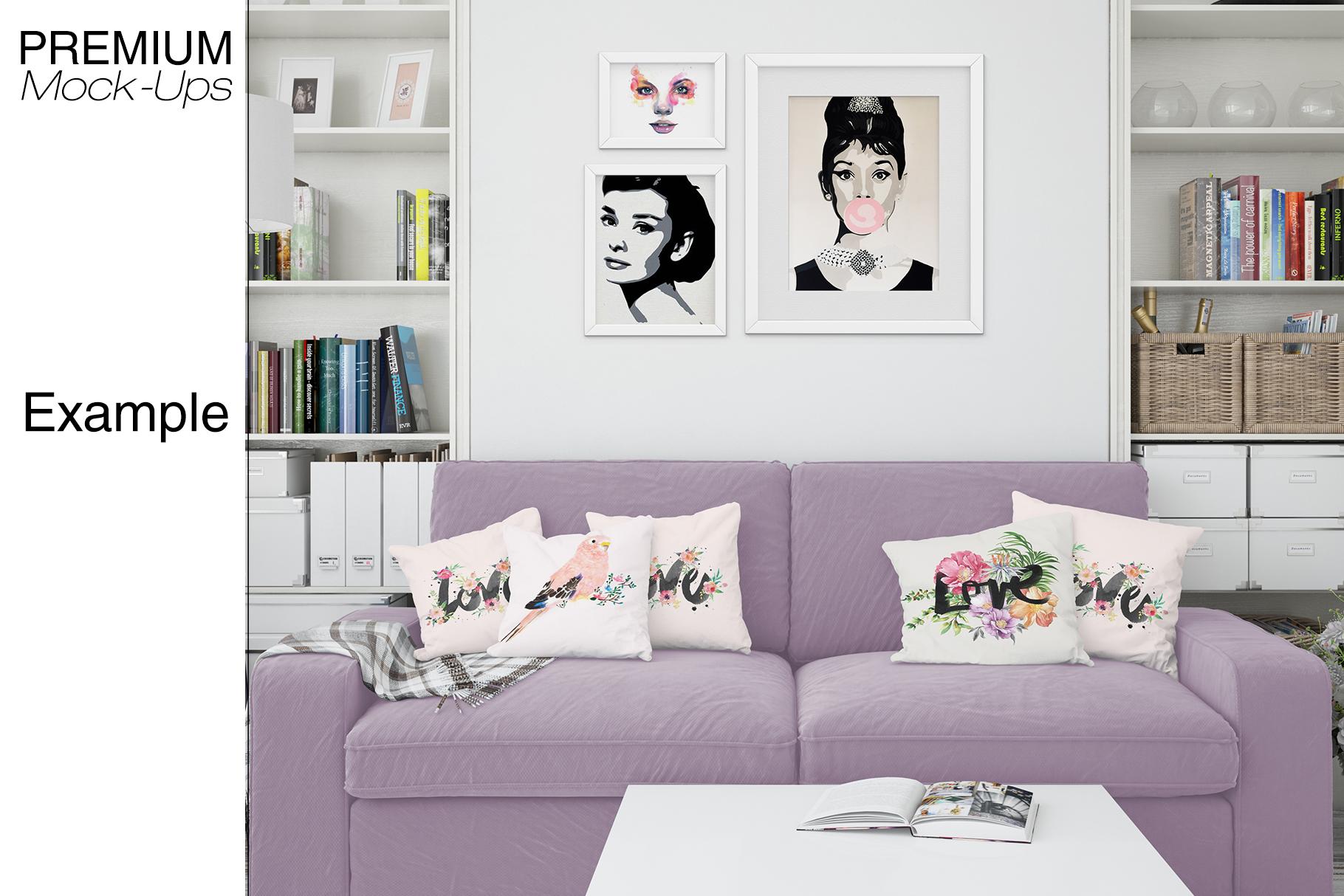 Pillows & Frames Mockup Set example image 10