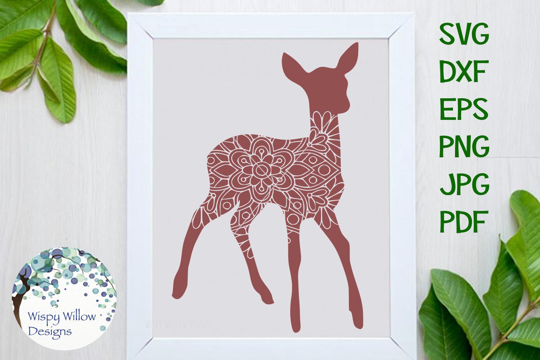 Woodland Animal Mandala Bundle, Fox, Deer, Bear, Moose SVG example image 4