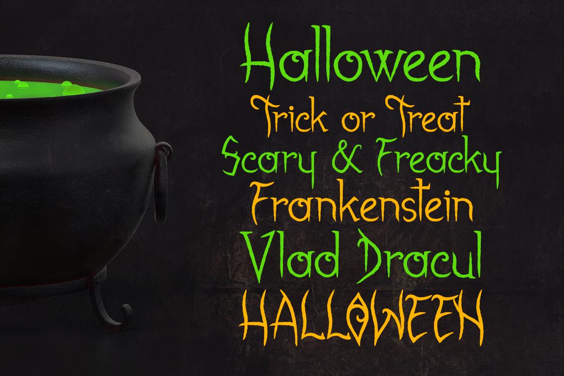 Gabrielle Bloodkador Halloween Font example image 7
