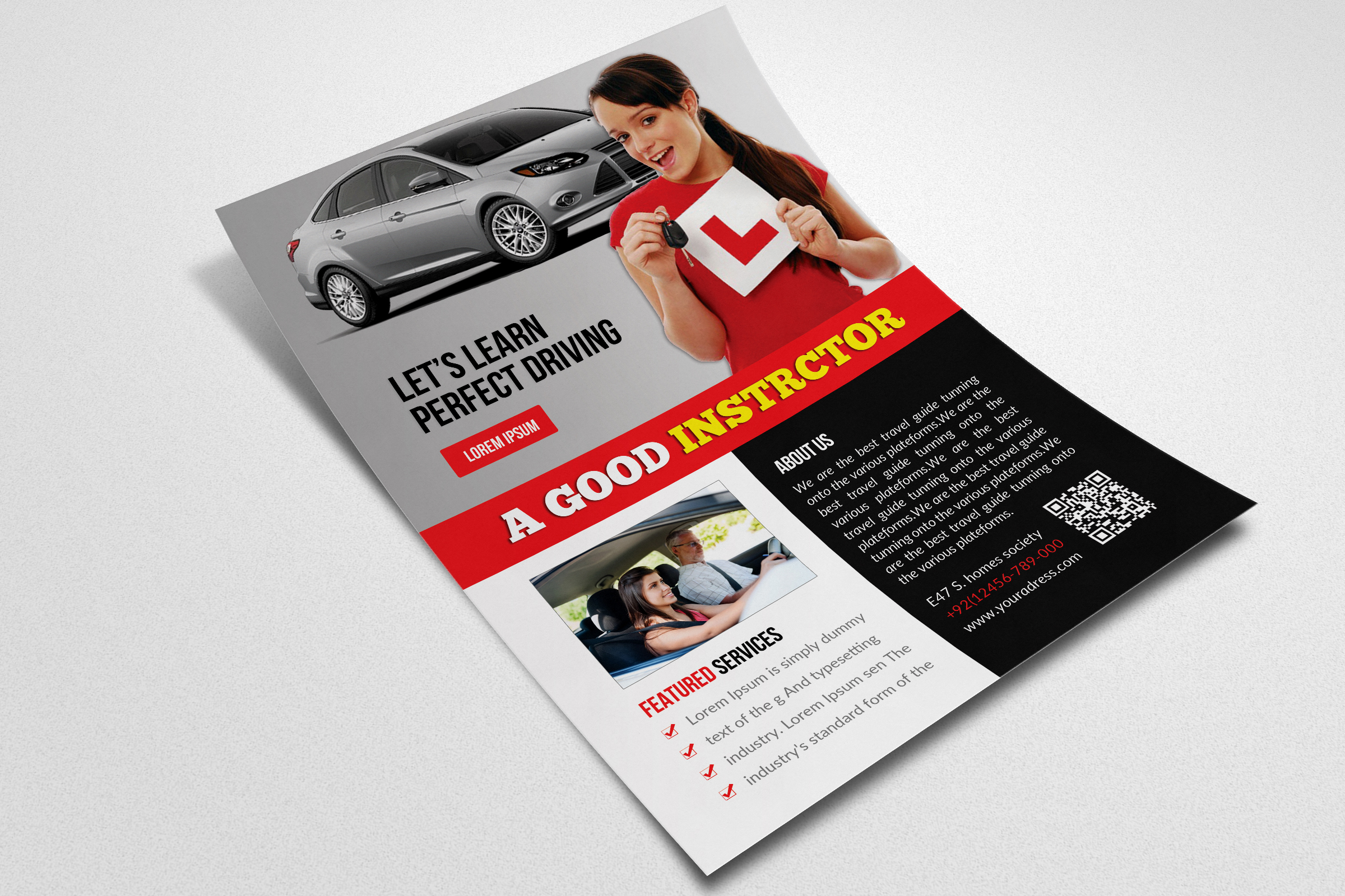 Driving School Flyer Template example image 2