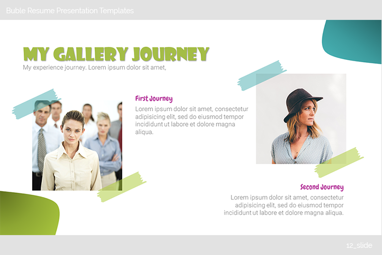 Buble Resume Presentation Templates example image 13