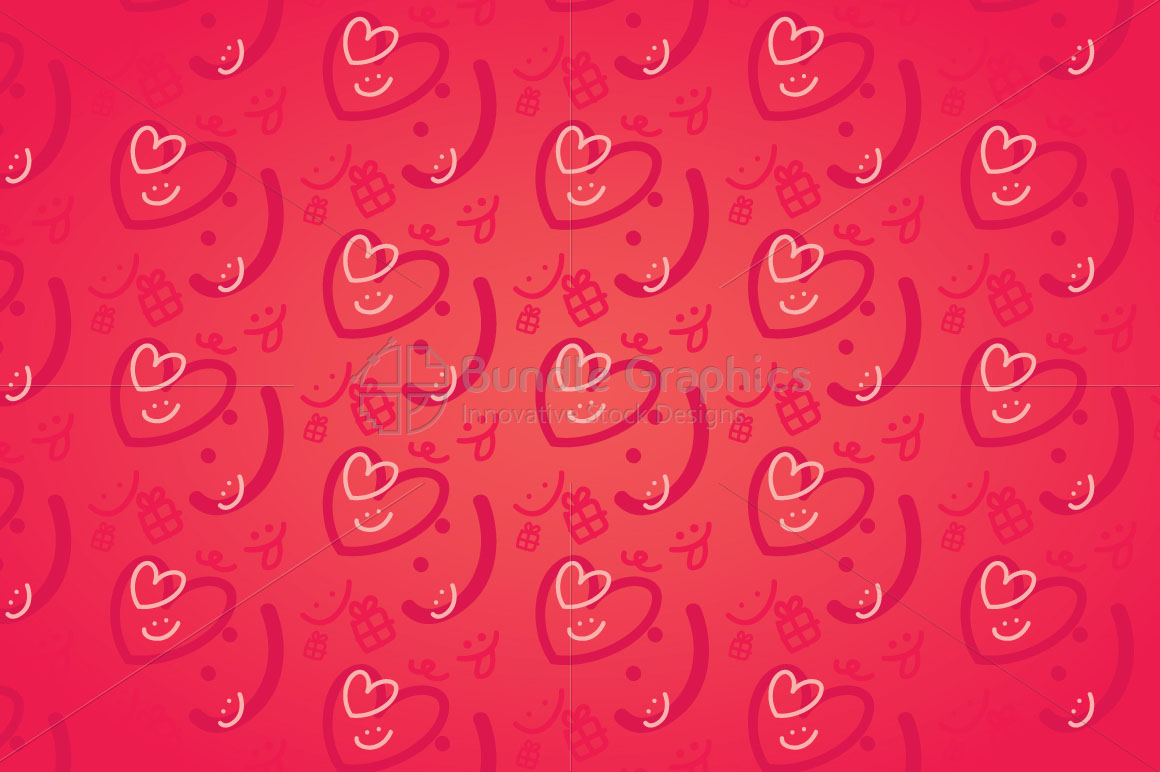 Smiling Hearts - Cute Graphics Background example image 1