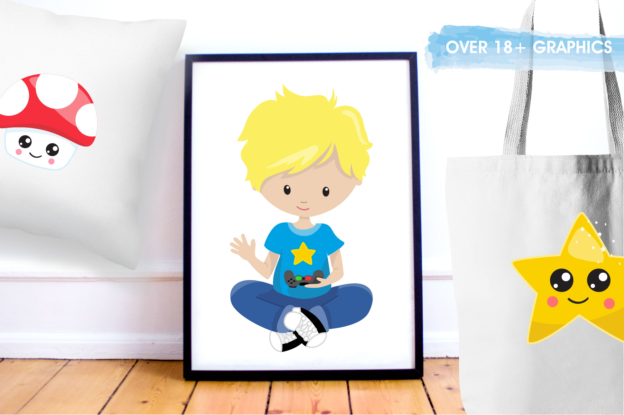 Game kids graphics and illustrations example image 5