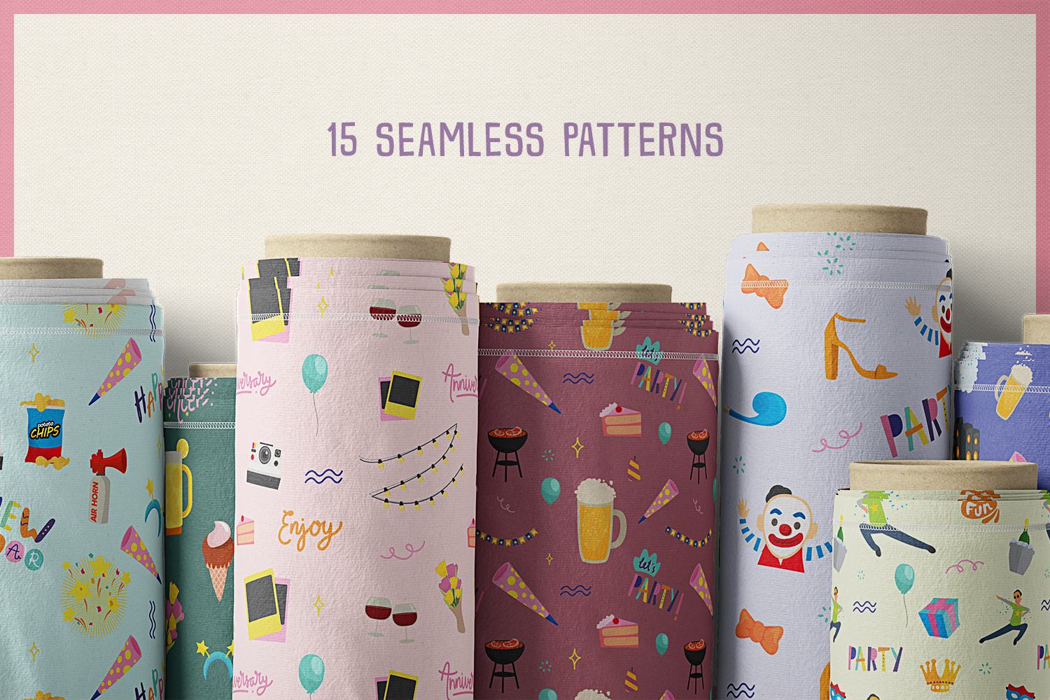 80 All About Party Vector Clipart & Seamless Patterns example image 7