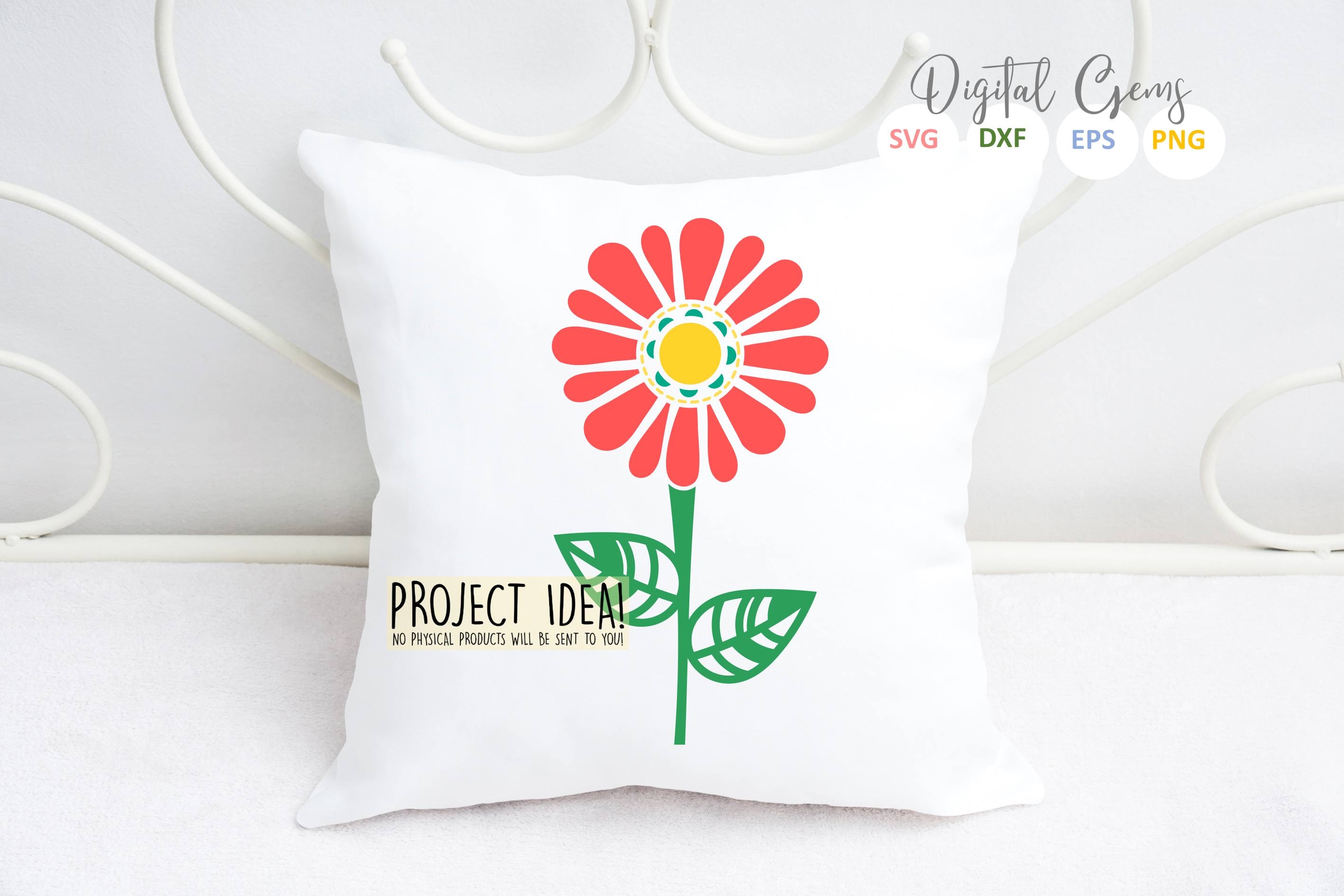 Flower SVG / DXF / EPS / PNG files example image 2