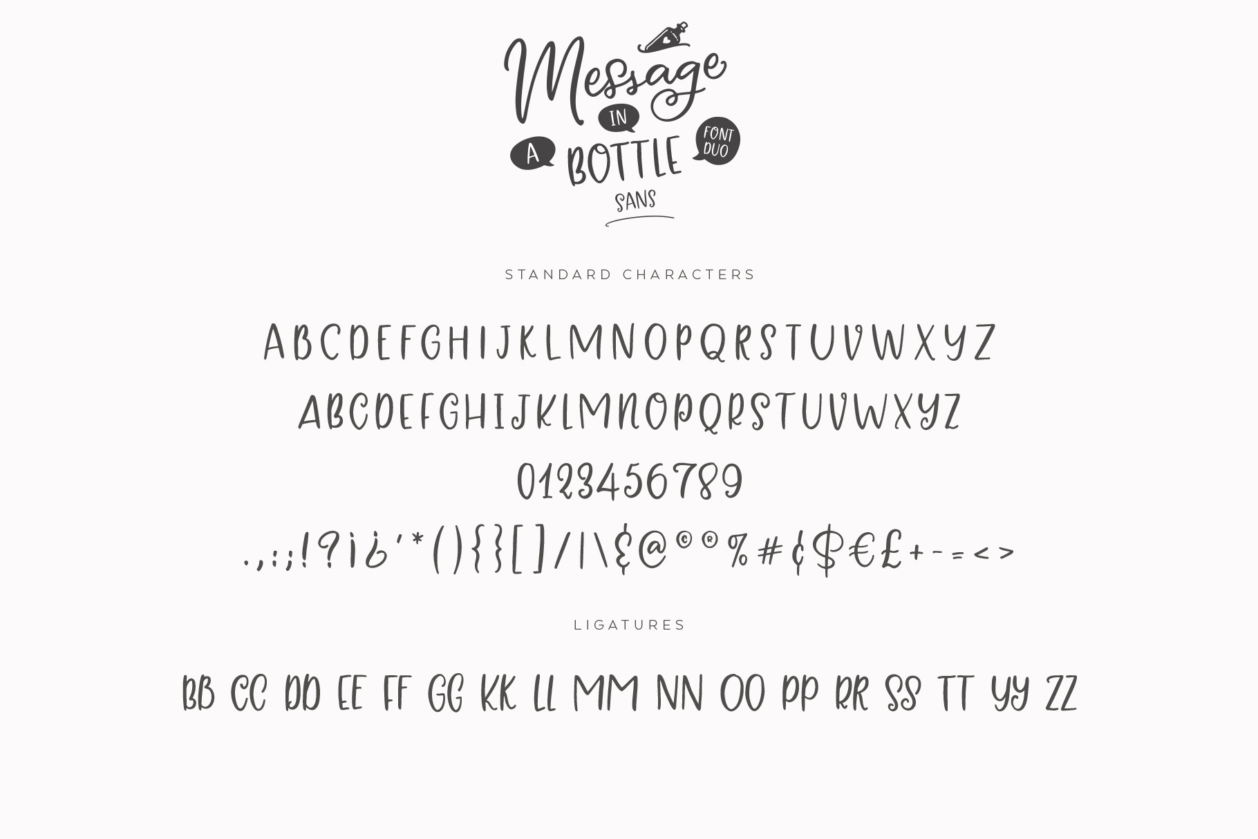 Message In A Bottle Font Duo And Extras example image 18