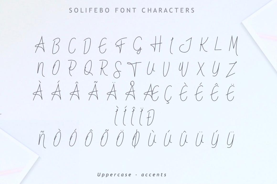 Solifebo Font example image 8