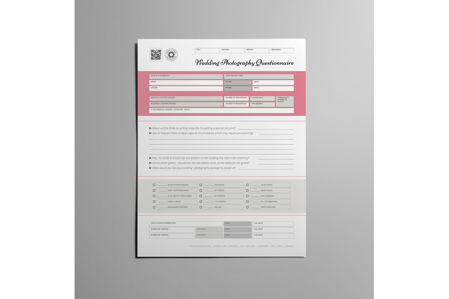 Wedding Photography USL Questionnaire example image 3
