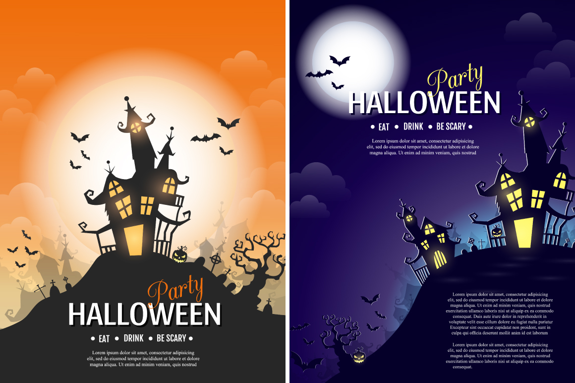 Halloween vector posters example image 3