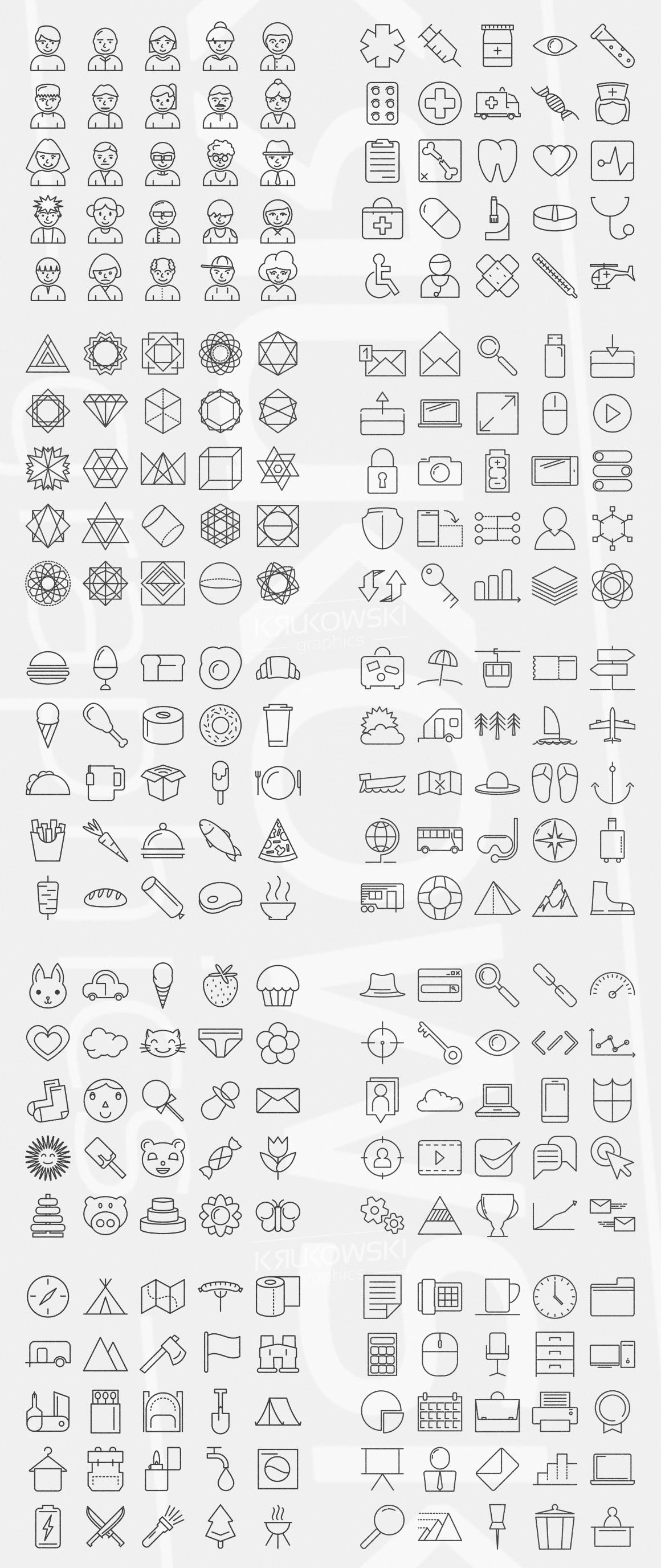 500 Modern Icons Bundle example image 3