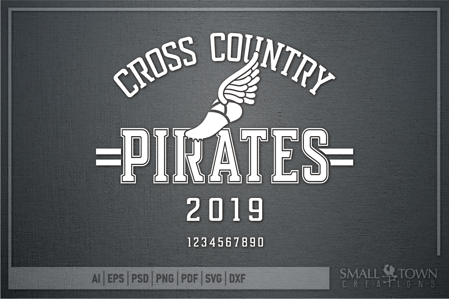Pirate Cross Country, Sports, Logo, PRINT, CUT & DESIGN example image 5