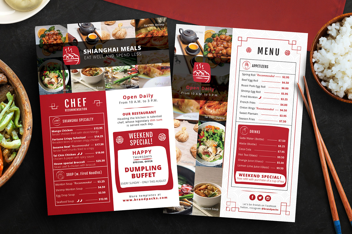 Chinese Menu & Flyer Template example image 2