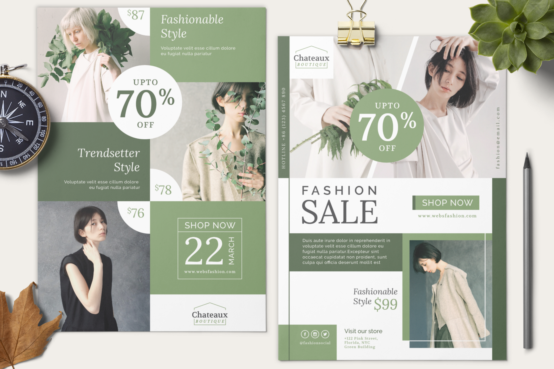 Fashion flyer template example image 9