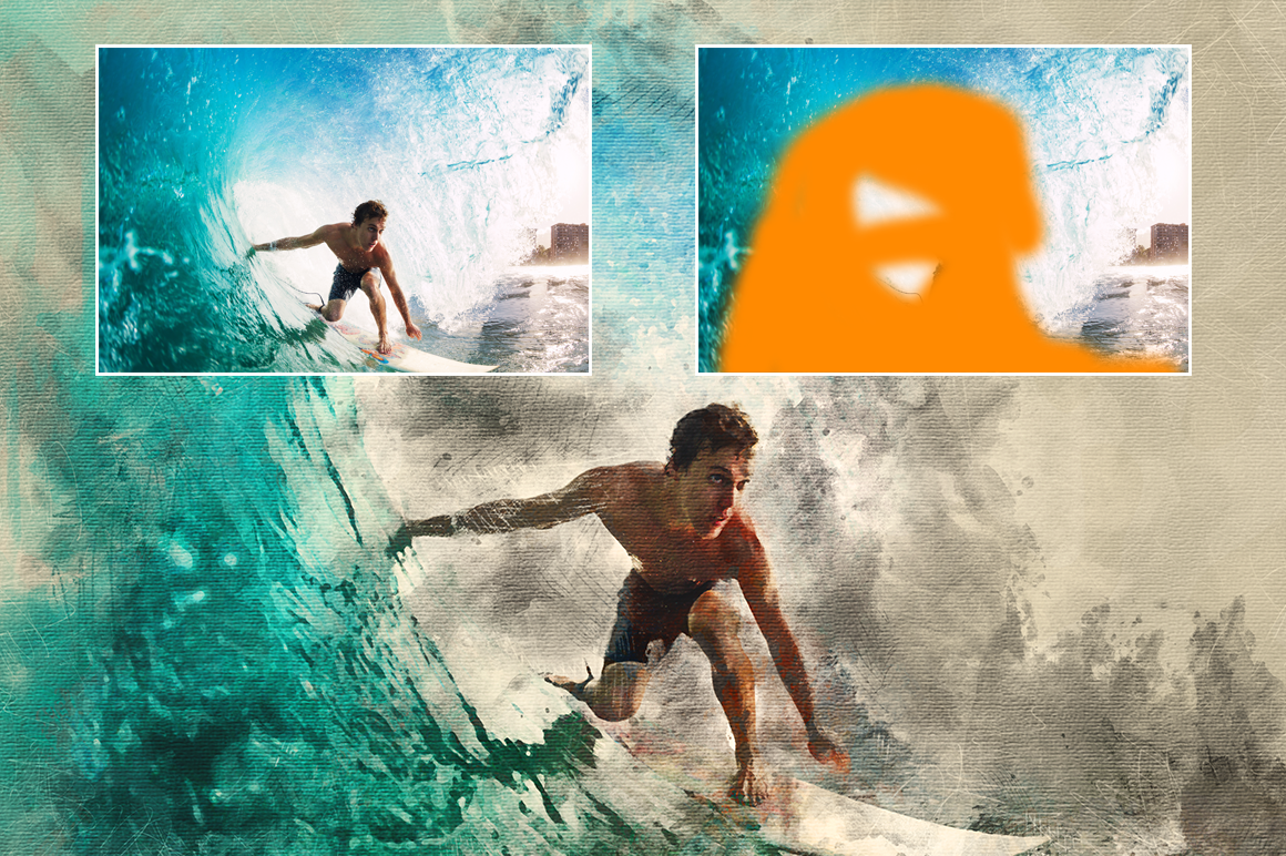Watercolor Photoshop Action example image 5