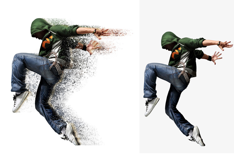 Splatter Dispersion Photoshop Action example image 10