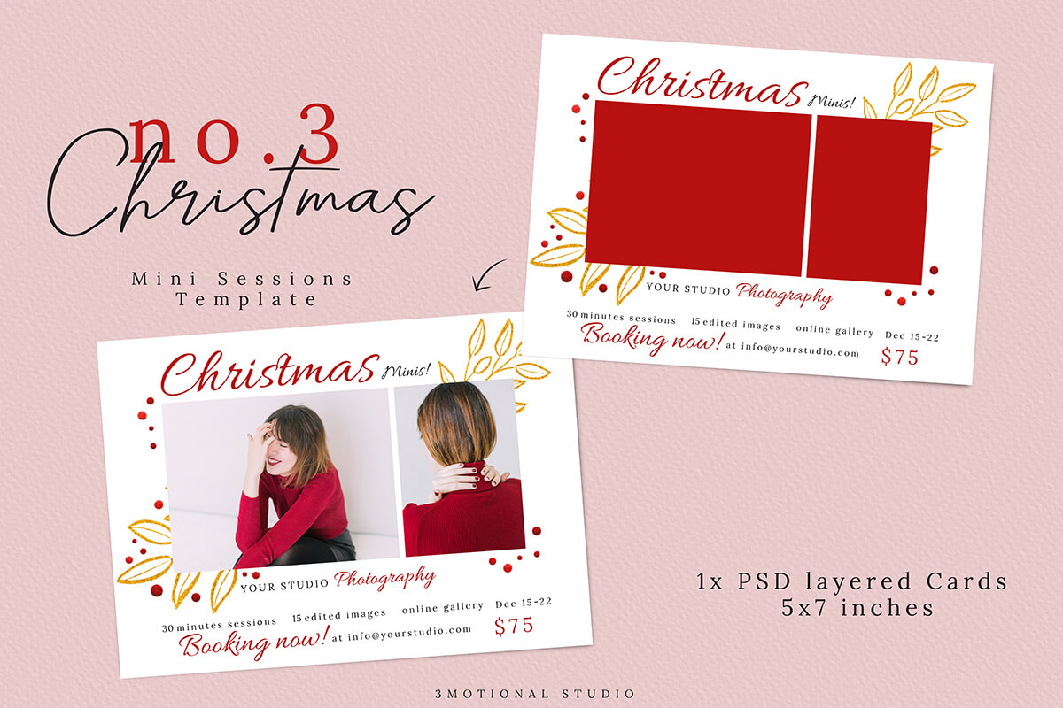 Christmas Mini Sessions Template 04 example image 3