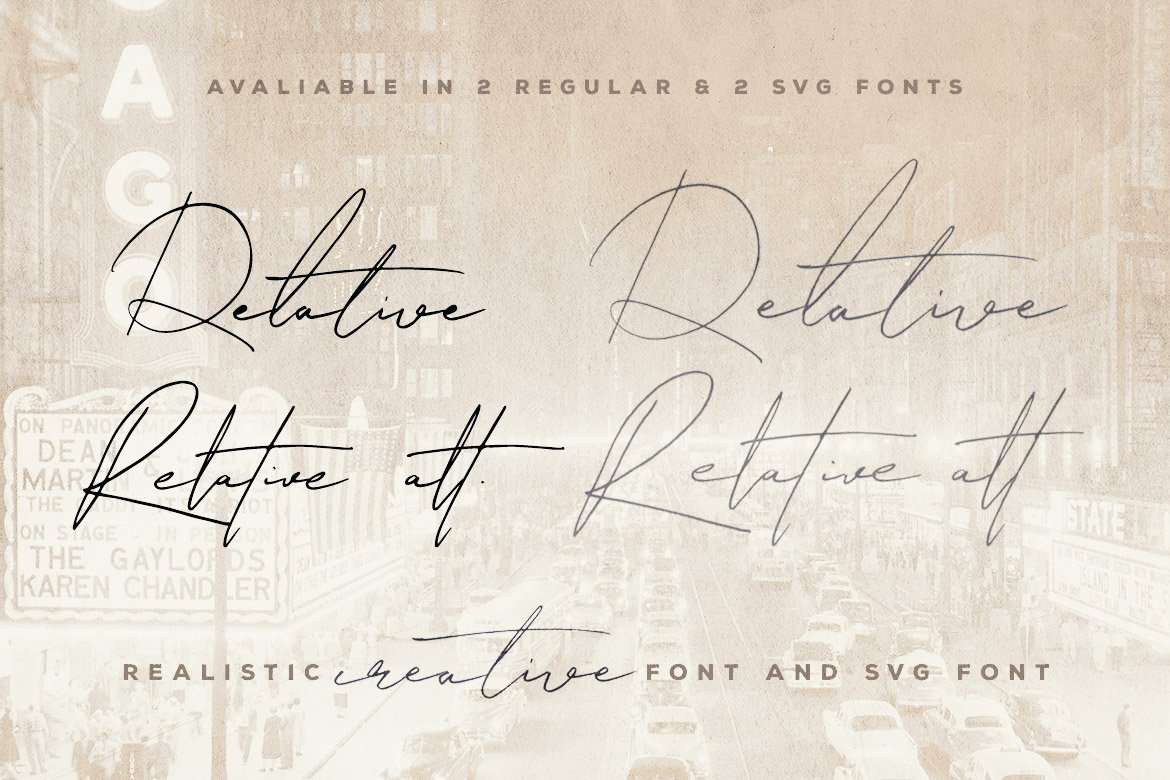Relative Handwritten & SVG Font example image 2