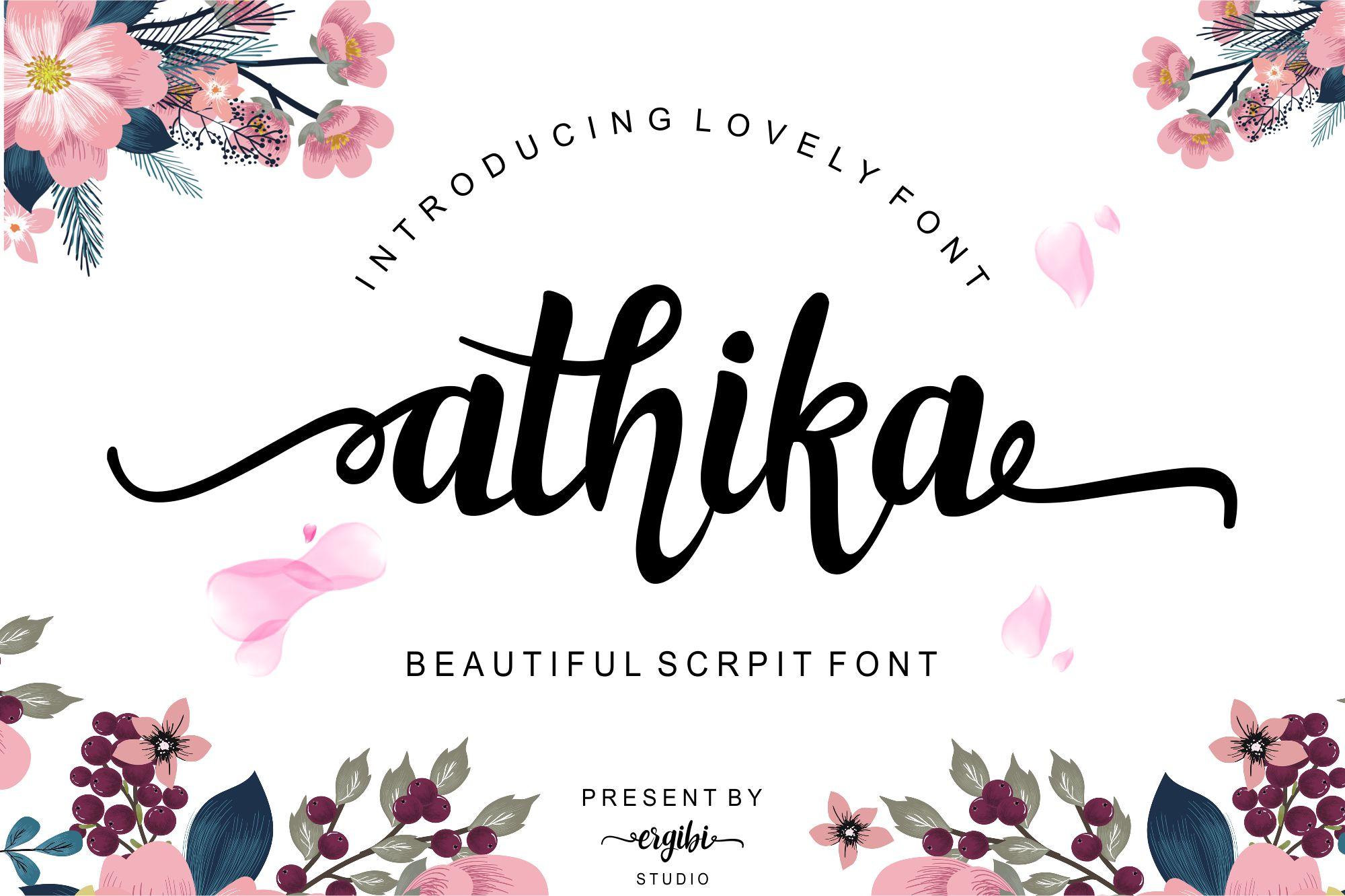 Athika Lovely Font example image 1