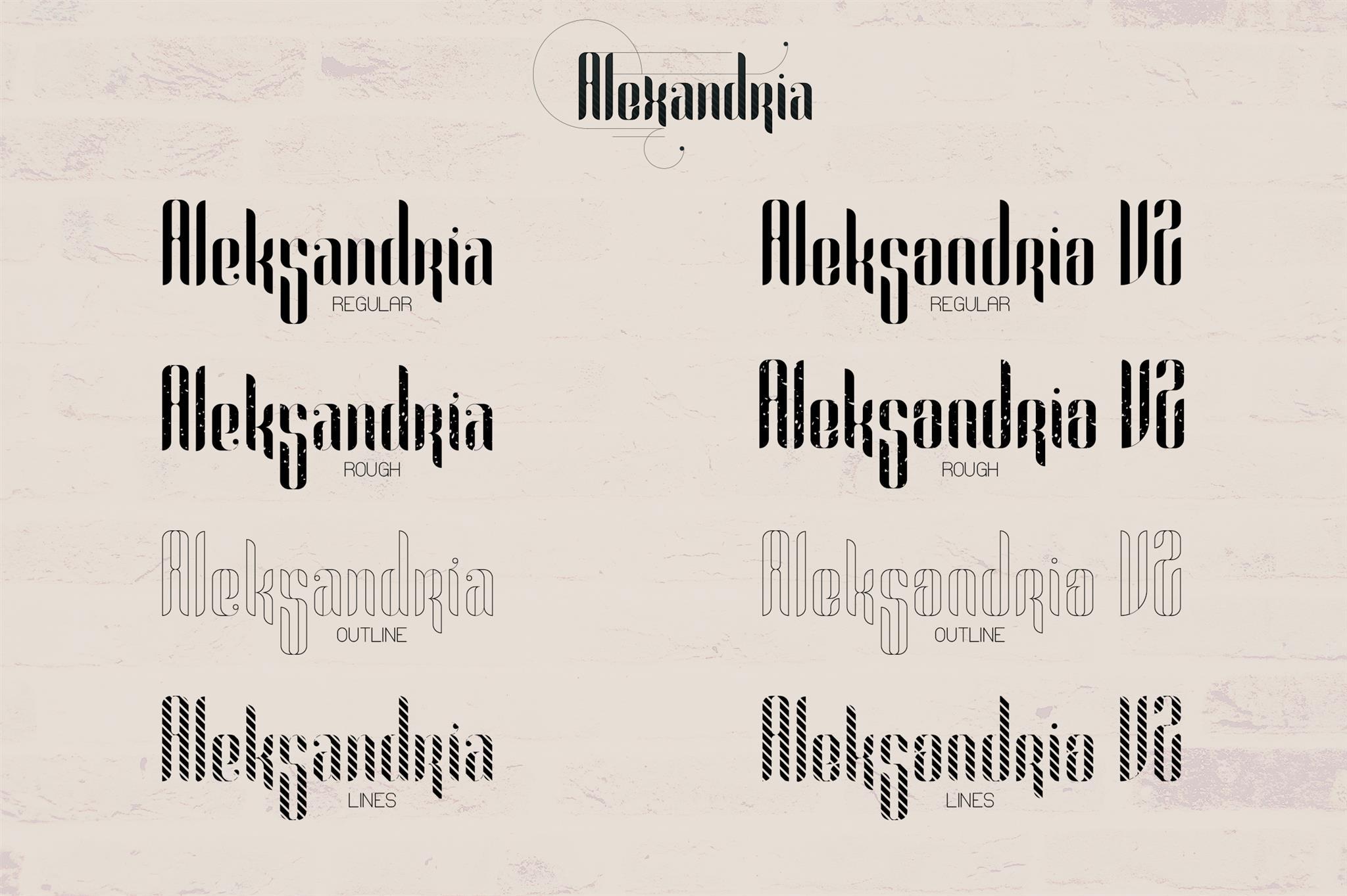 Alexandria Font Family Bonus example image 2