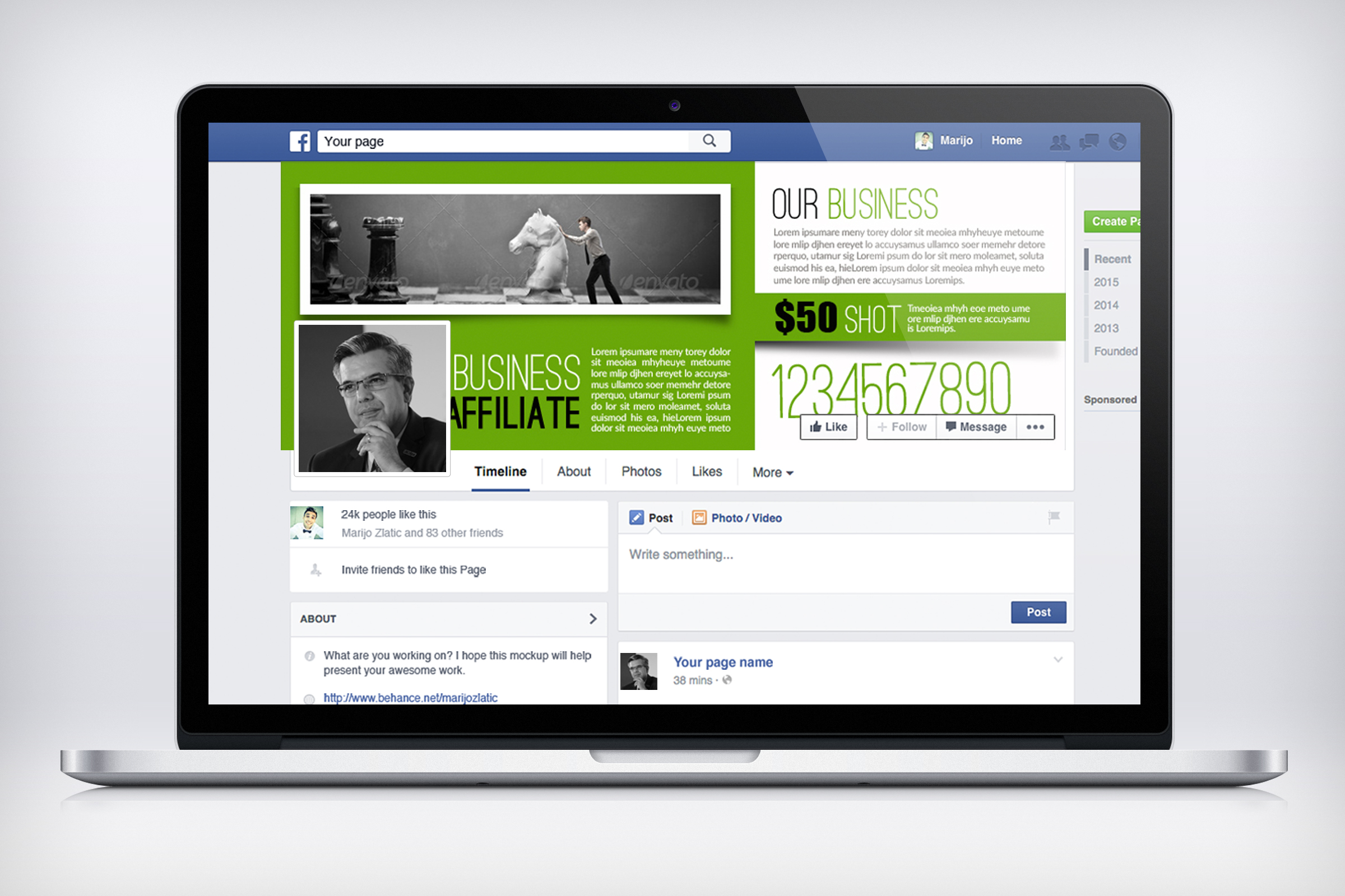Business Innovation Facebook Timeline example image 3