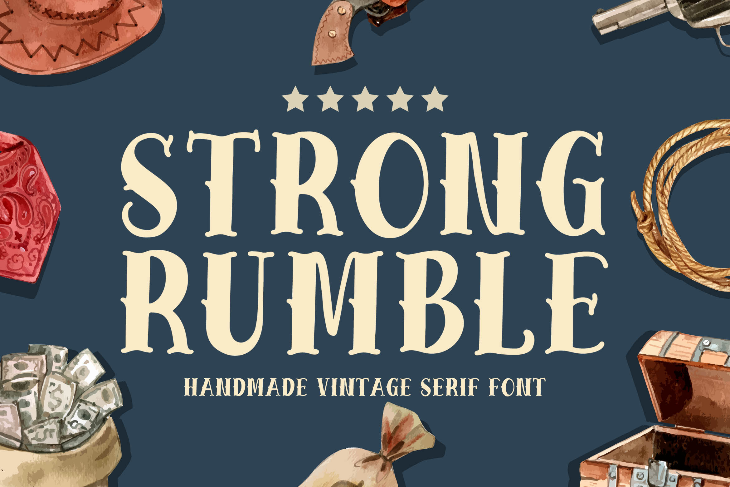 Strong Rumble - Vintage Serif Font example image 1