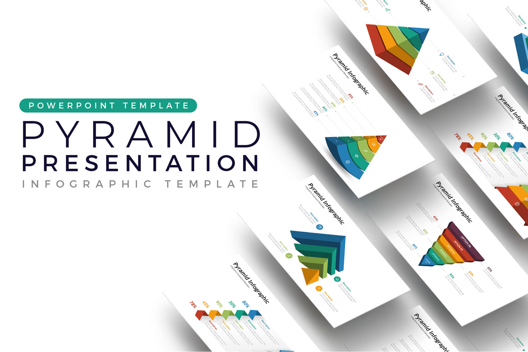 Pyramid Presentation - Infographic Template example image 1
