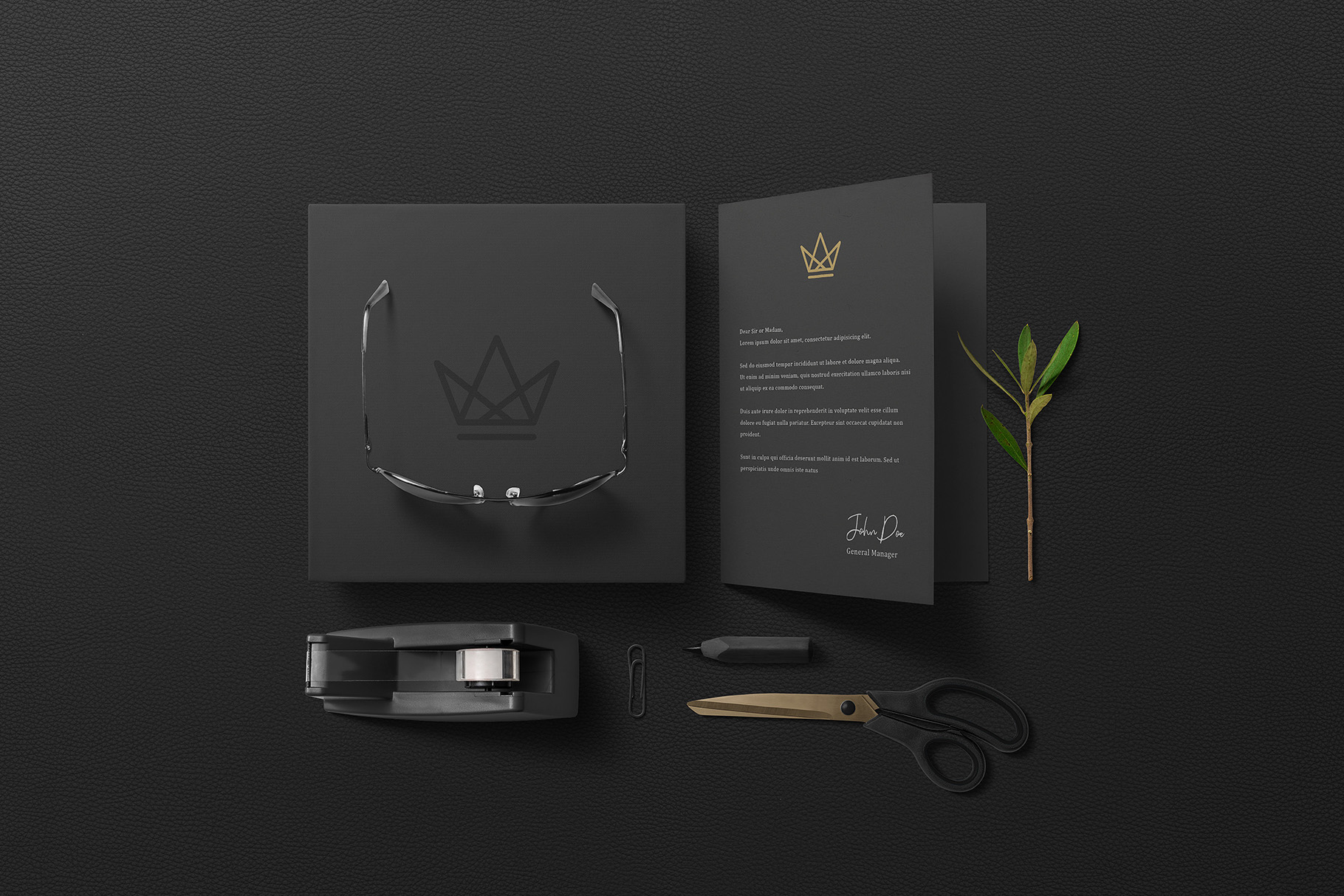 Black Branding Mockups Vol.2 example image 11