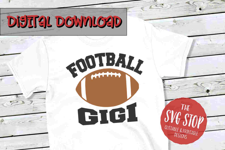 Football Gigi -SVG, PNG, DXF example image 1