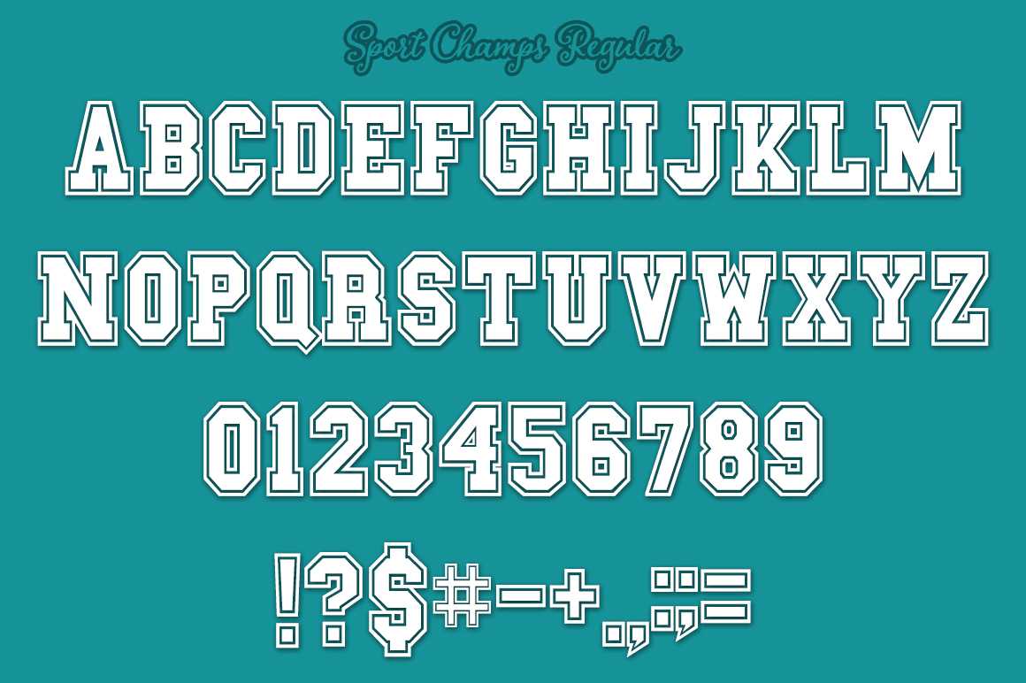 Sport Champs Font Pack for Crafters example image 3