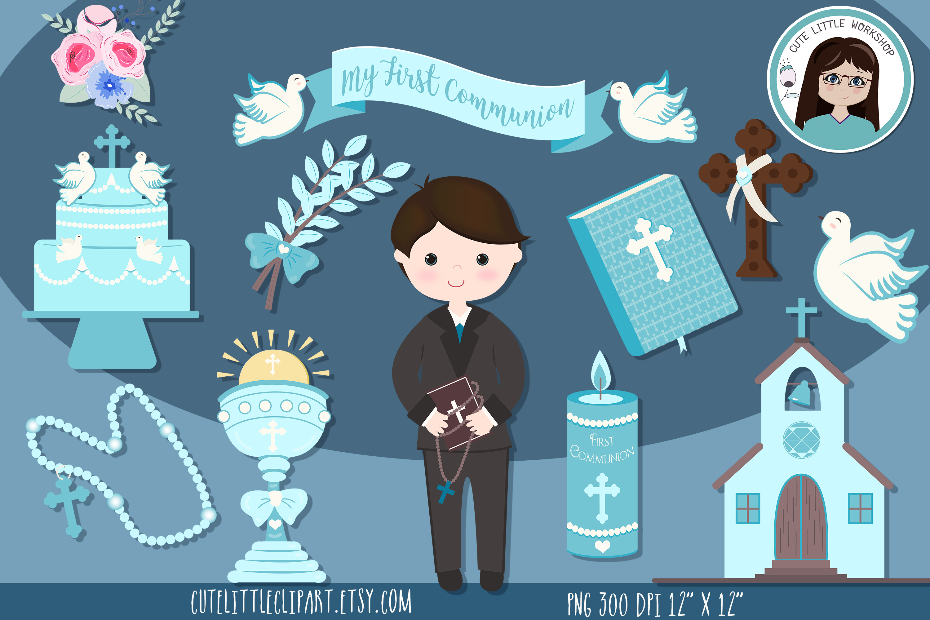 First Communion Cliparts Bundle example image 2