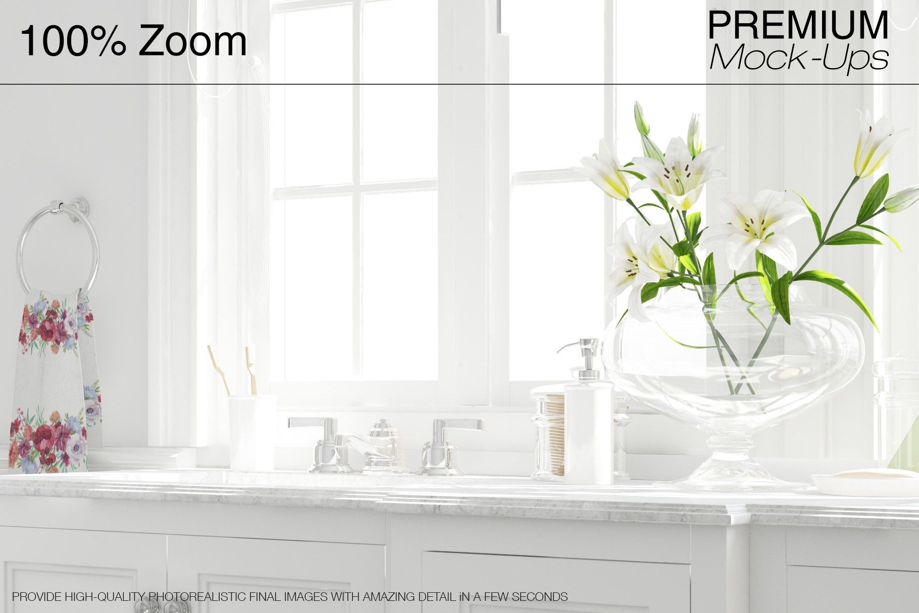 Bath Curtain Mockup Pack example image 16