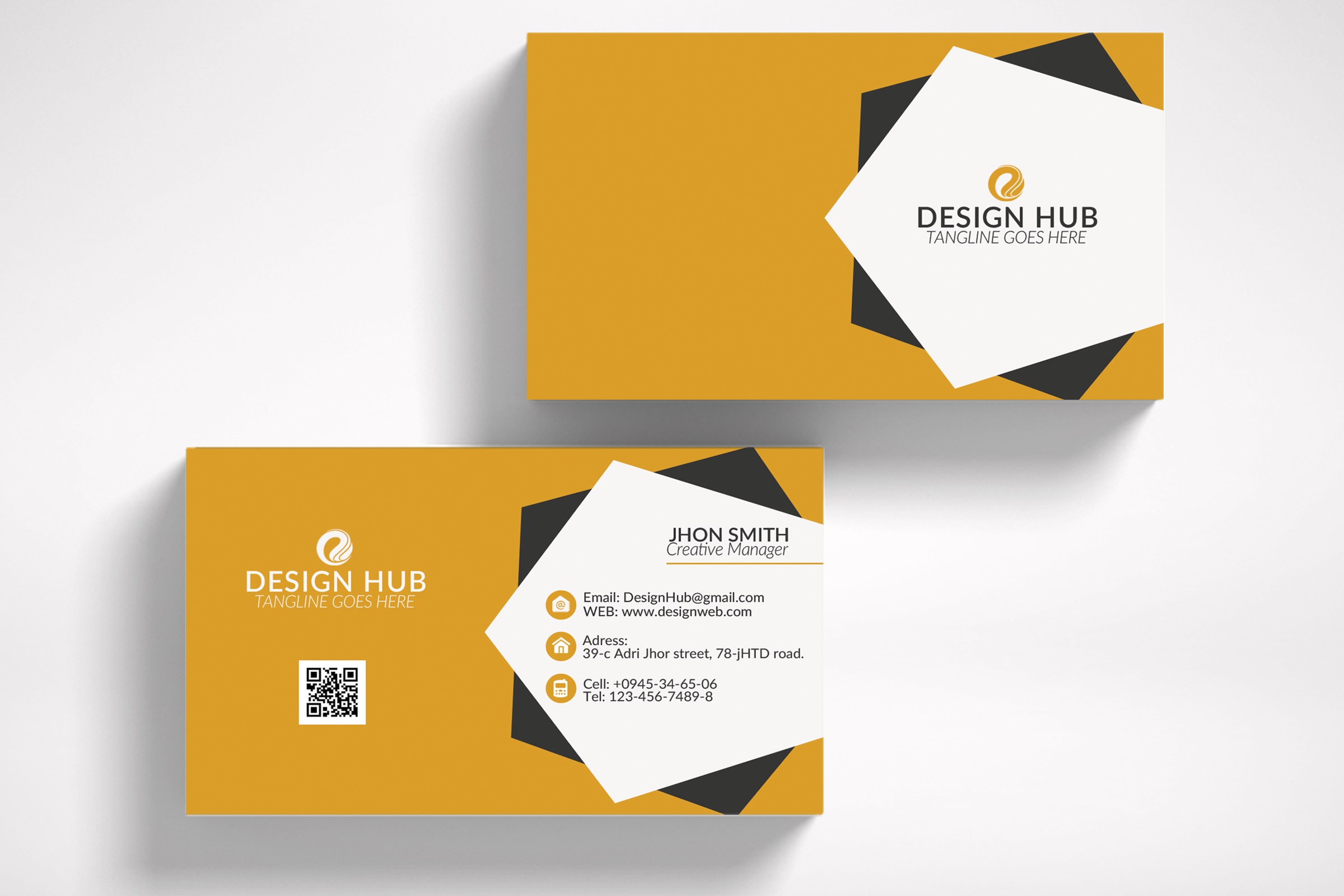 Stylish Business Card Template example image 3
